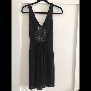 BCBG Black Dress w/ beading and sequin detail!
